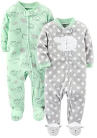 Fleece Footed Sleep & Play